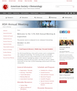 ASH Annual Meeting
